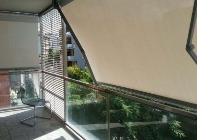 Toldo balcón brazos invisibles